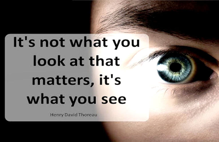 LOOKING vs SEEING, pay attention to details